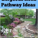 Rock pathways, pathway ideas, landscaping hacks, gardening, rock landscaping, DIY rock pathway, gardening pathway, popular pin, outdoor living, outdoor landscaping.