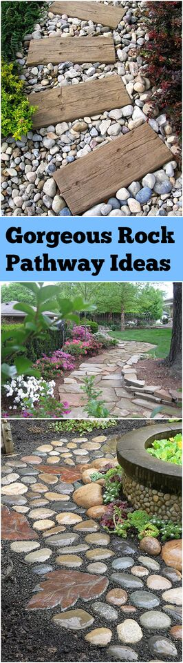 Gorgeous rock pathway ideas bless my weeds - Tips using rock landscaping ...