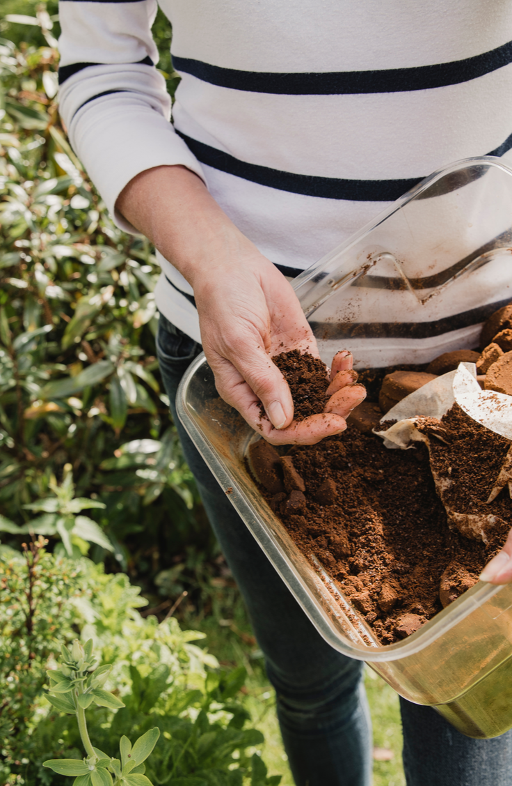 Here are 20 insanely clever gardening tips and hacks that make gardening easier. Try adding coffee grounds to the soil for added nutrients!
