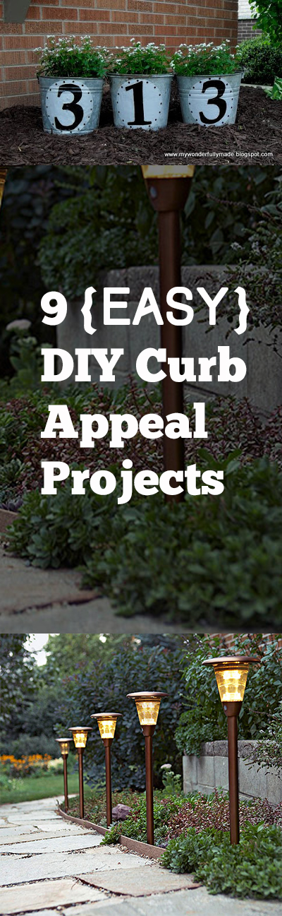 Curb appeal projects, DIY curb appeal, home improvement, easy home improvement, popular pin, DIY home improvements, home upgrades, easy curb appeal.