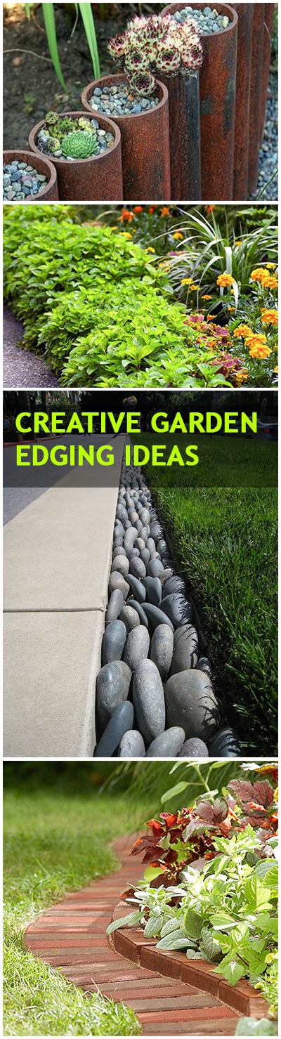 Creative lawn and garden edging ideas bless my weeds for Cheap diy garden edging