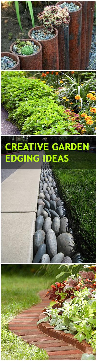 Garden edging, garden edging ideas, creative garden edging, DIY garden edging, popular pin, gardening, garden updates, DIY outdoor projects, outdoor repurpose projects