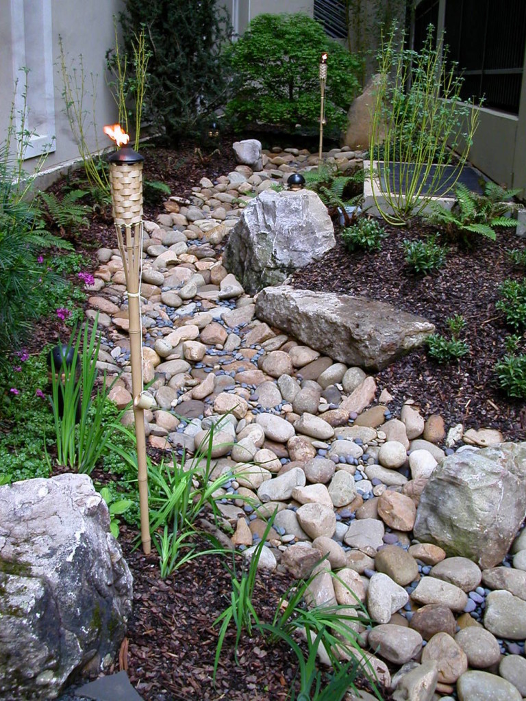 Hardscaping Dry Garden Landscaping Ideas : Diy dry creek bed designs and projects page of