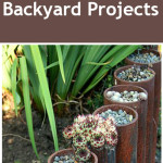 Rusted metal DIY projects, DIY projects, outdoor DIY, popular pin, backyard projects, DIY backyard projects, rusted metal, backyard upcycling projects.