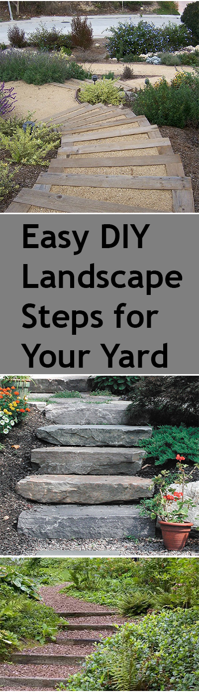 Diy steps for your yard bless my weeds for Landscaping your yard