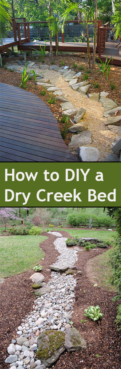 Diy dry creek bed ideas for Dry scape landscaping
