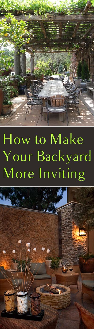 How to Make Your Backyard More Inviting| Backyard Ideas, Backard DIY Designs, Outdoor DIY Design, DIY Landscaping, Outdoor DIY, Outdoor Ideas, Outdoor DIY Ideas, DIY Yard Ideas #YardIdeas #YardDIY #DIYYard #DIYYardIdeas #OutdoorDIY