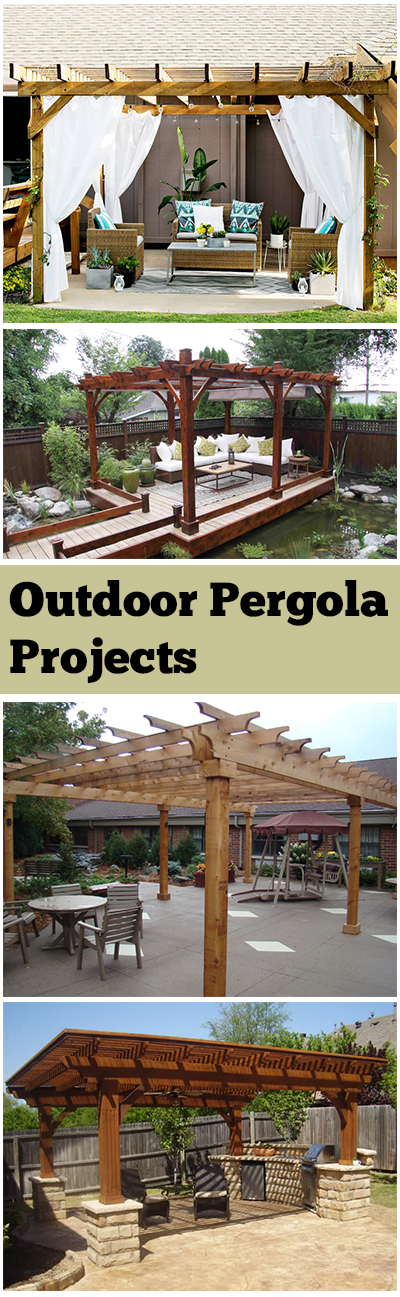 Outdoor pergola, outdoor pergola projects, DIY pergola projects, popular pin, DIY outdoor projects, outdoor living, outdoor entertainment.