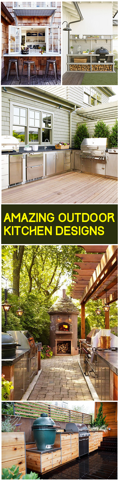Amazing Outdoor Kitchen Designs