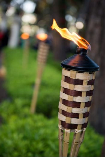 Here are 15 different types of backyard Tiki torches to inspire your outside entertaining this summer! These ideas include Tiki torches you can DIY.
