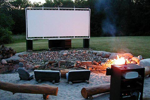 Backyard Theater Ideas backyard movie theater ideas - bless my weeds