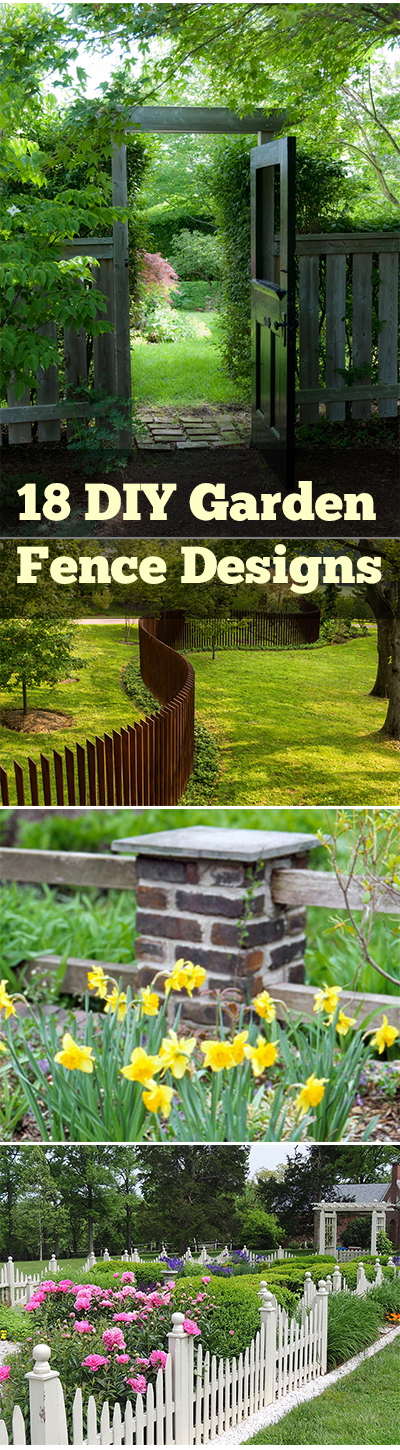 18 diy garden fence designs page 2 for Different garden designs