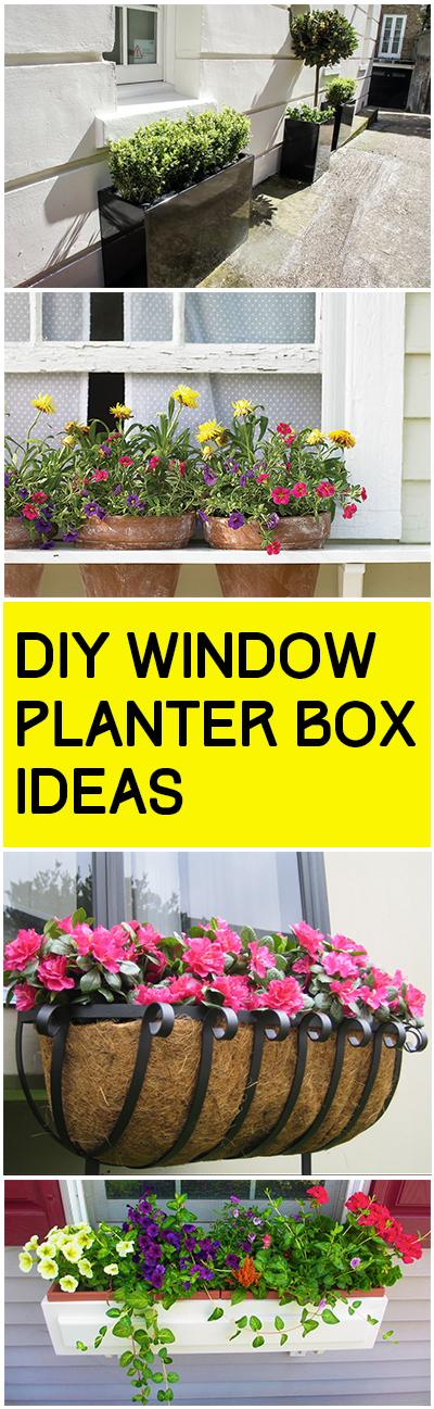 DIY Window Planter Box Ideas