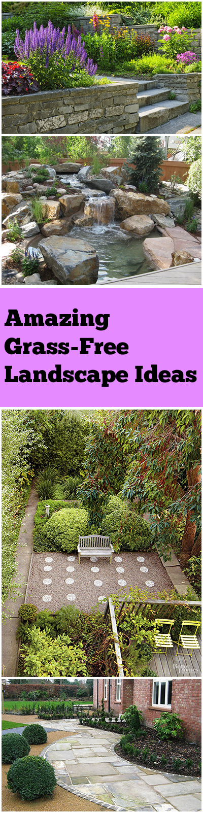 Amazing Grass-Free Landscape Ideas