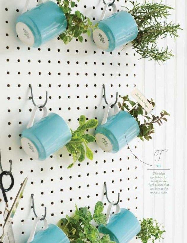 Herb garden, herb gardening, herb gardening ideas, popular pin, creative herb gardening, indoor gardening, indoor herb garden, gardening hacks.