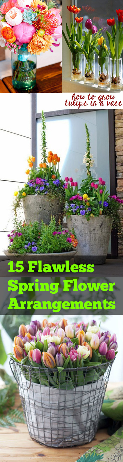 15 Flawless Spring Flower Arrangements