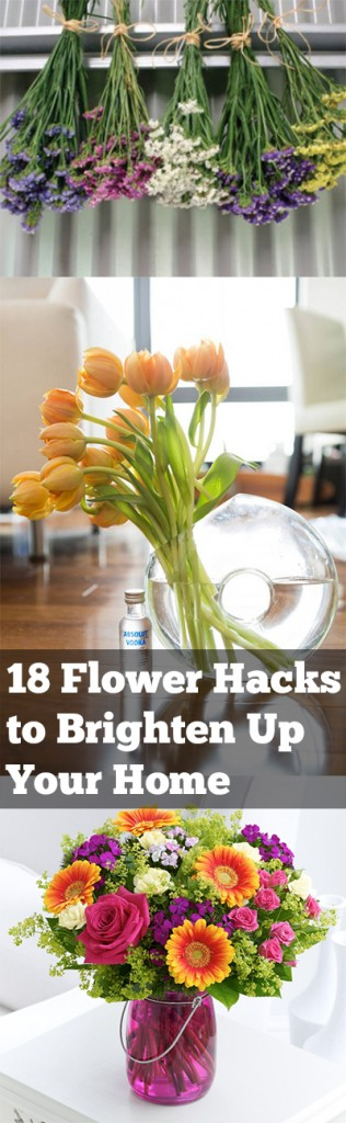 Flower hacks, flower gardening, brighten up your home, home garden, indoor gardening, home decor, popular pin, DIY home decor, garden inspired home decor.