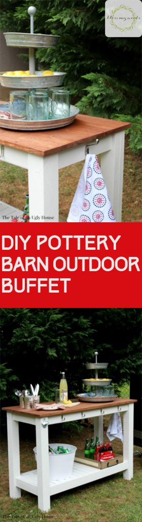 DIY Pottery Barn, Pottery Barn Knock Offs, Knock off Pottery Barn, Outdoor Projects, DIY Outdoor Projects, Outdoor Entertainment, Outdoor Living, Porch and Patio, Patio DIY Projects, Easy DIY Projects, Popular Pin