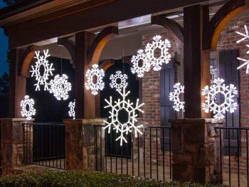 Lighted Snowflake Decorations