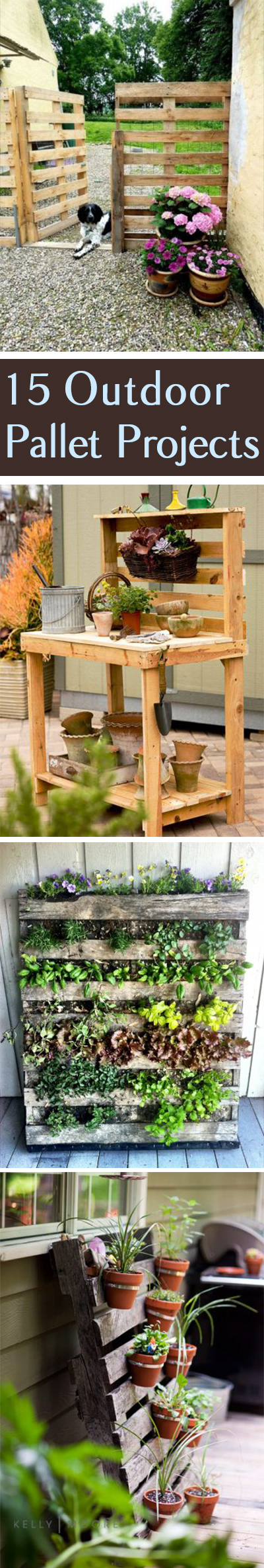 Pallet Projects, Outdoor Pallet Projects, Pallet Project TIps and Tricks, Outdoor Projects, How to Reuse Pallets, Using Pallets in the Garden, Outdoor Living, Outdoor Living Ideas, Popular Pin