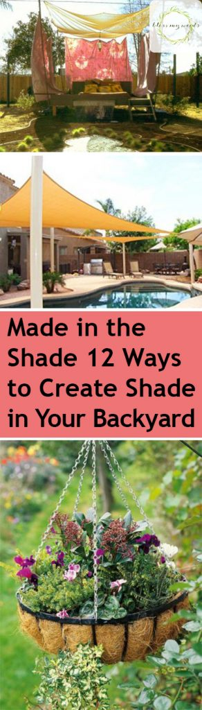 Shade, Backyard Shade Ideas, How to Shade Your Yard, Easy Ways to Add Backyard Shade, Yard Shade Ideas, Easy Outdoor Shade Ideas, Yard and Landscape Ideas, DIY Outdoor Projects, Popular Gardening Pin