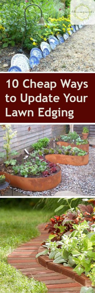 Lawn Edging| Lawn Edging DIY Projects, DIY Projects, Cheap DIY Projects, Lawn Edging Ideas, Outdoor DIY Projects, Simple DIY Projects, Outdoor Living
