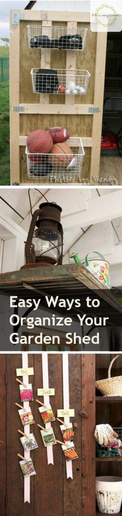 Easy Ways to Organize Your Garden Shed - How to Organize Your Garden, Gardening, Gardening Tips and Tricks, Organize Your Garden Shed, Garden Organization, How to Organize Your Garden Tools, Popular Pin