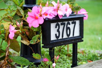 house number planter | planters | house numbers | gardening | decor | house