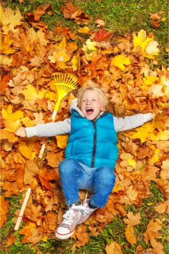 Leaf raking can be a lot of fun if you incorporate these tips