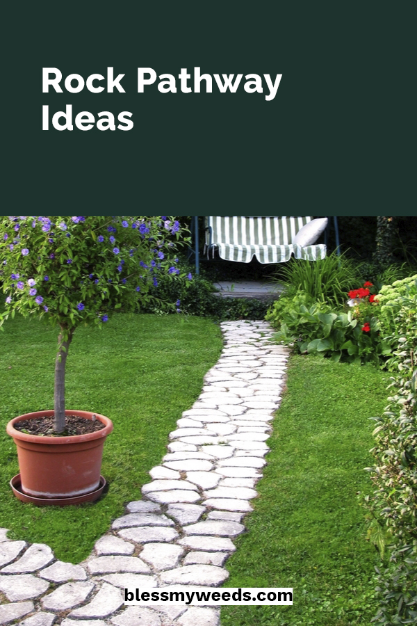 Gardens with rock pathways almost feel magical. Like you could follow the path and end up somewhere enchanting. Maybe that is a little extreme but they do add so much character to a yard. We have some fun and easy ideas for walkways, DIY projects, rockways in grass and more. You know you are curious so don't stop reading. #rockpathwayideas #gardenideas #pathways