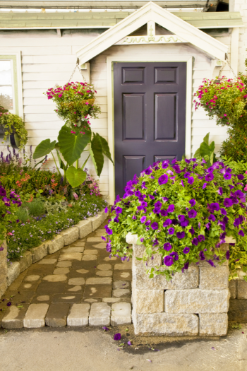 """Here are some amazing front door landscaping ideas for the entryway that are sure to inspire you to create an alluring """"entryway"""" to your home. You will love the way it turns out!"""
