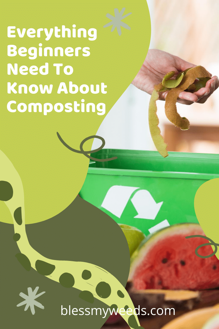Composting for beginners often seems a little overwhelming. But, once you know a few tips, it's easy to get started and compost to your heart's content. Read the post to learn just how easy composting can be. #composting #gardens #blessmyweedsblog