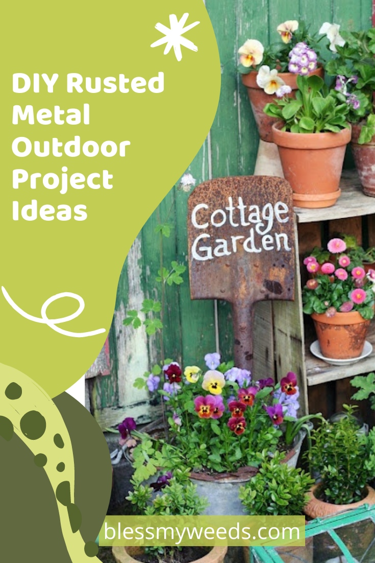 Blessmyweeds.com is perfect for every type of gardener. Find helpful tips and ideas to make your yard the best looking one on the block. Check out these easy DIY projects for your yard using rusted metal!