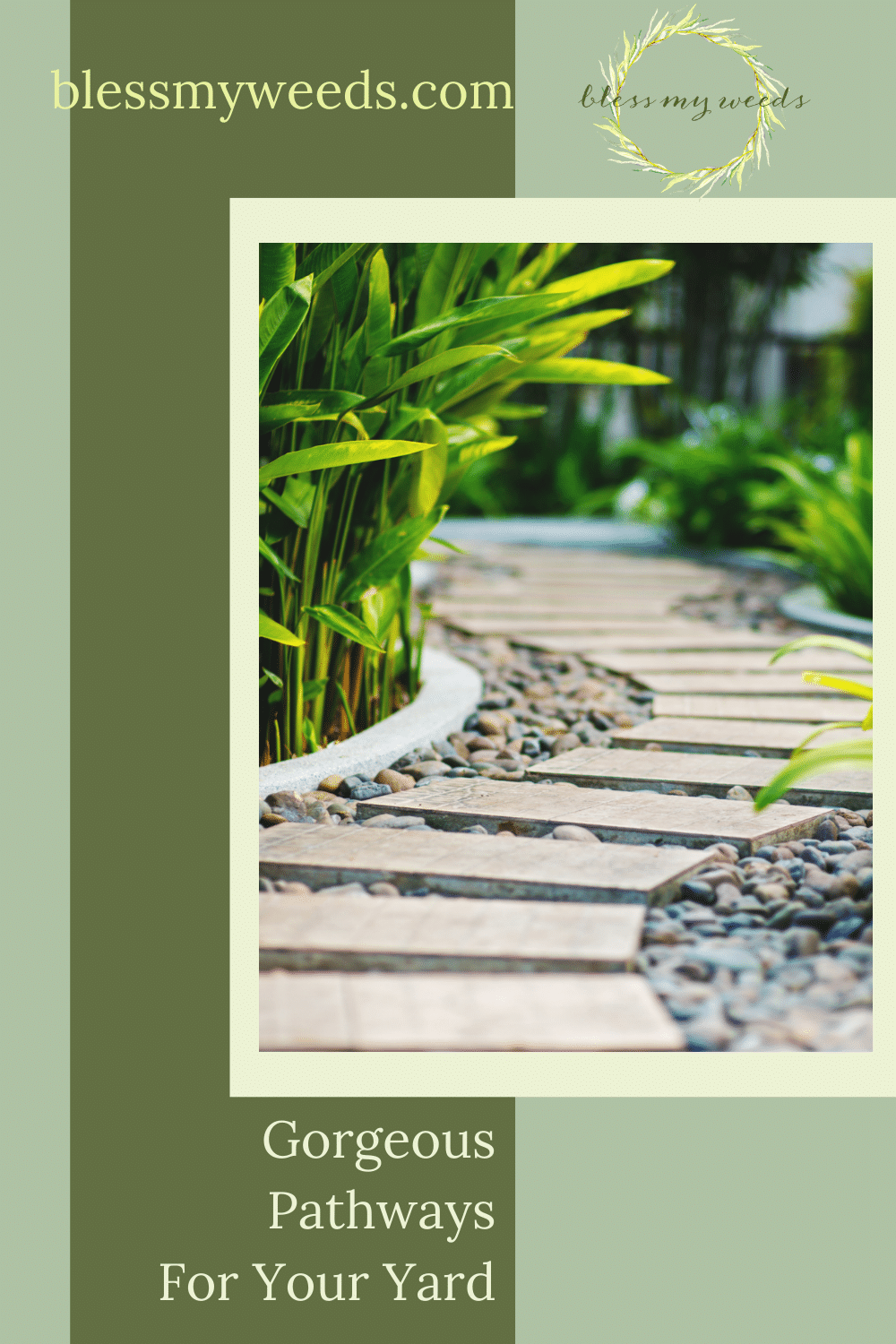Blessmyweeds.com is the ultimate resource for gardeners and landscapers of all skill levels! Find all the best ideas to create a stunning outdoor space. Check out these amazing landscape pathways perfect for any yard!
