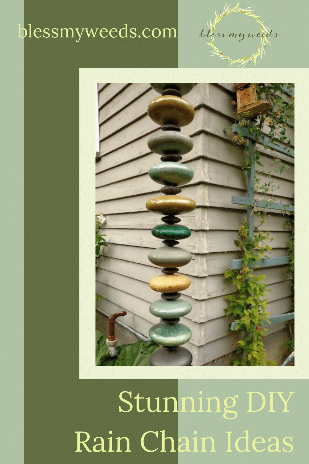 Rain chains are amazing. Both functional and beautiful, they are also very easy to make. Blessmyweeds.com can show you how. Check out these easy DIY rain chain ideas you can start making today. Keep reading to learn more.